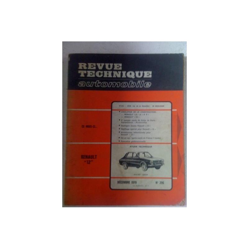 Revue technique Renault 12  1970