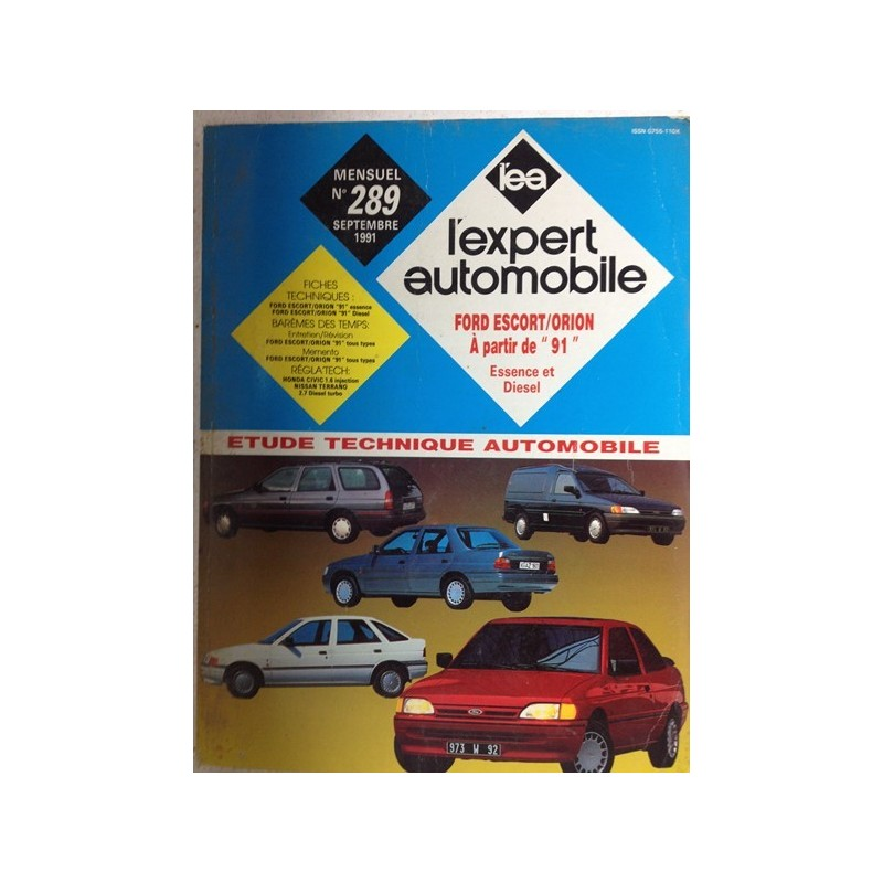 RTA Revue technique l'expert automobile Ford Escort Orion