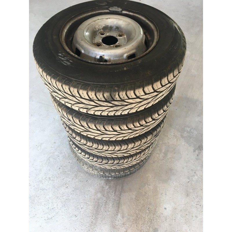 5 roues complètes pneus 155/80/r13t